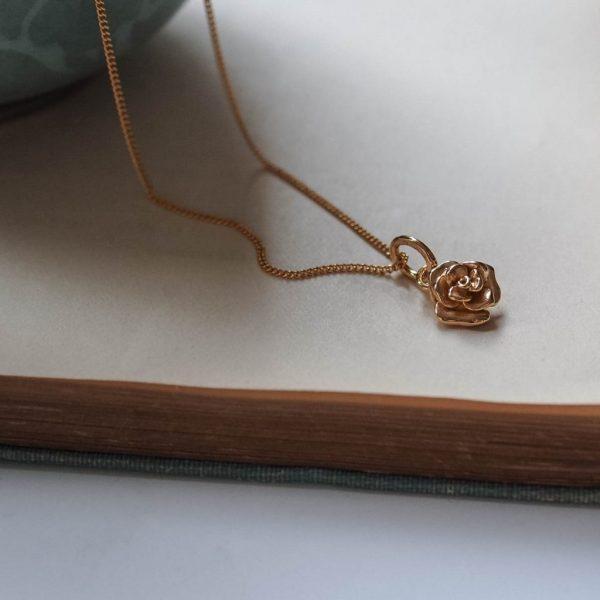 Rose Necklace Gold Vermeil