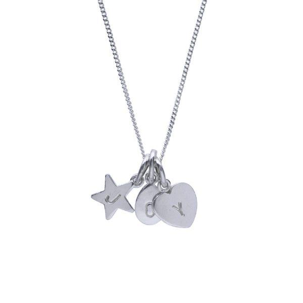 Alphabet Trio Lettering Necklace