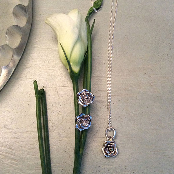 Roses in Sterling Silver