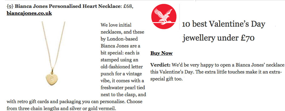 Independent Letter Heart Necklace