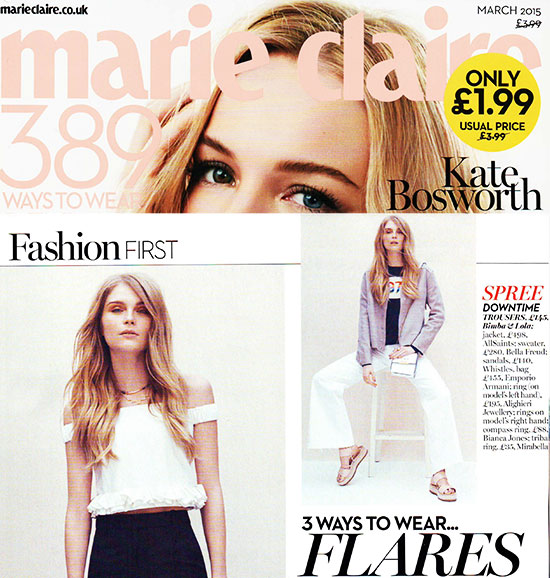 Marie Claire features Gold Compass Ring
