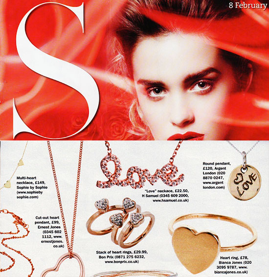 S Magazine features Heart Ring