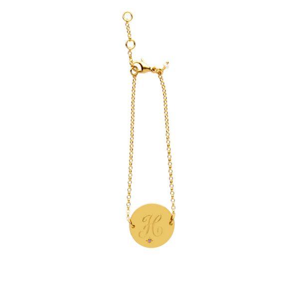 Amethyst Birthstone Bracelet in Gold Vermeil