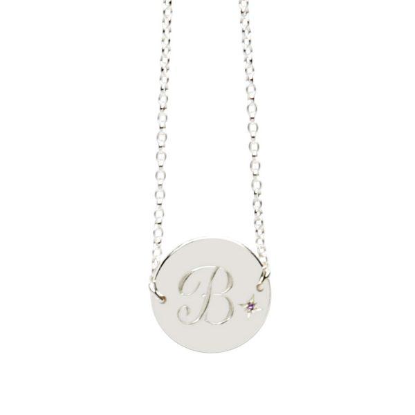 Amethyst Birthstone Bracelet in Sterling Silver
