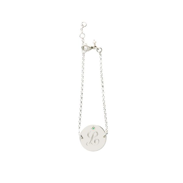Emerald Birthstone Bracelet in Sterling Silver