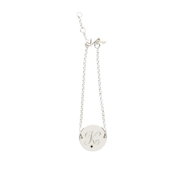 Garnet Birthstone Bracelet in Sterling Silver