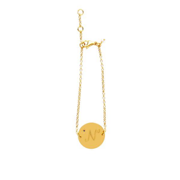 Sapphire Birthstone Bracelet in Gold Vermeil