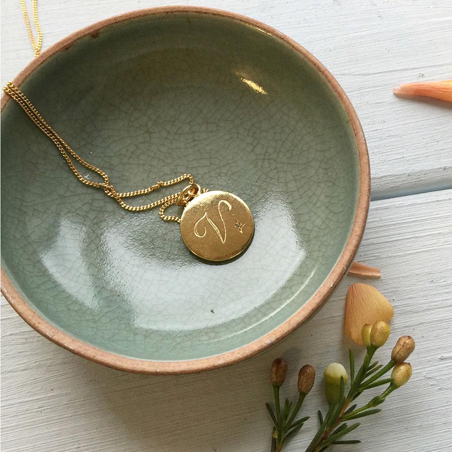Alexandrite Necklace in Gold Vermeil
