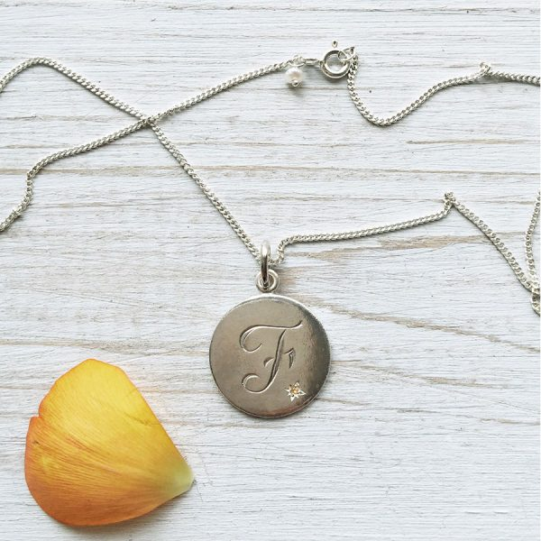 Citrine Birthstone Necklace in Sterling Silver