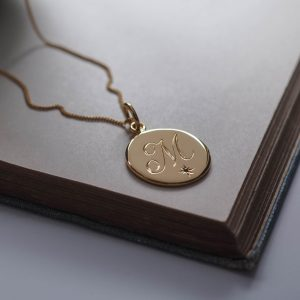 May Emerald Initial Necklace