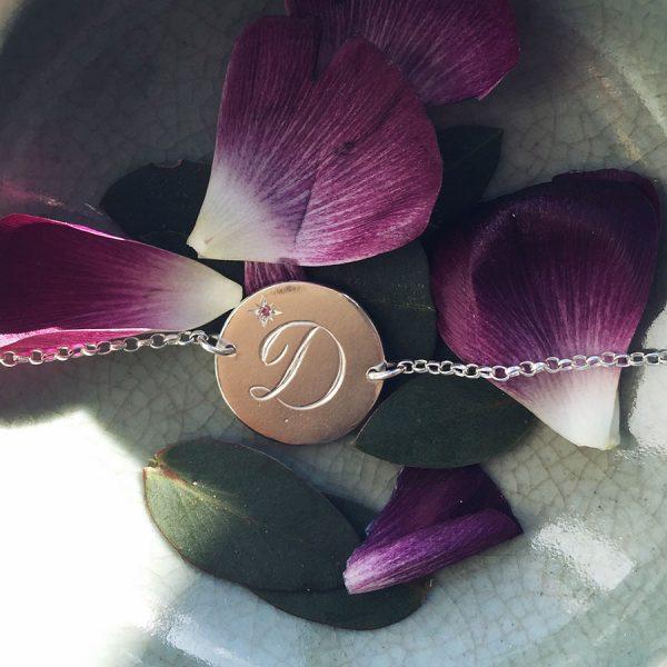 Birthstone Bracelet with Pink Tourmaline