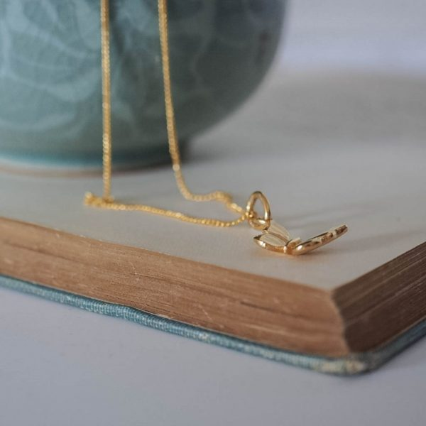 Butterfly Necklace Gold Vermeil3
