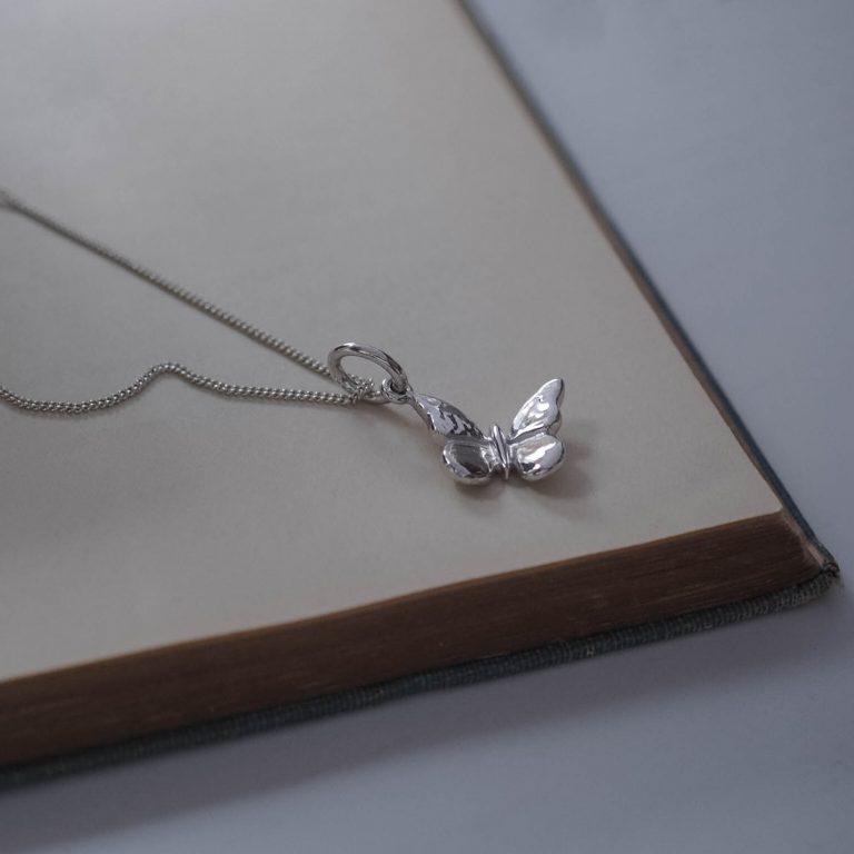 Butterfly Necklace Sterling Silver