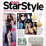 Heat Magazine features Lucy Watson and Eliza Doolittle wearing Bianca Jones