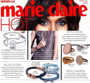 Marie Claire features Oval Diamond Signet Ring
