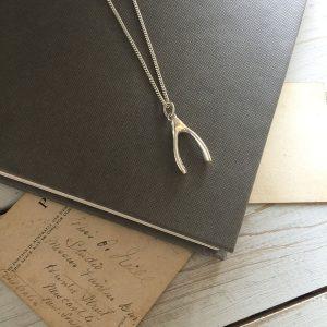Large Wishbone Necklace