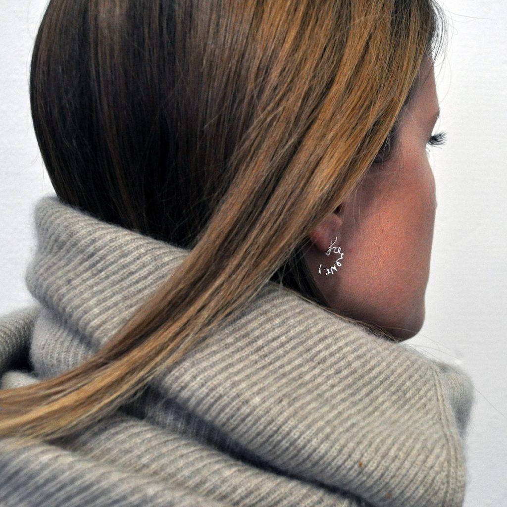 Lauren wearing Forever Earring