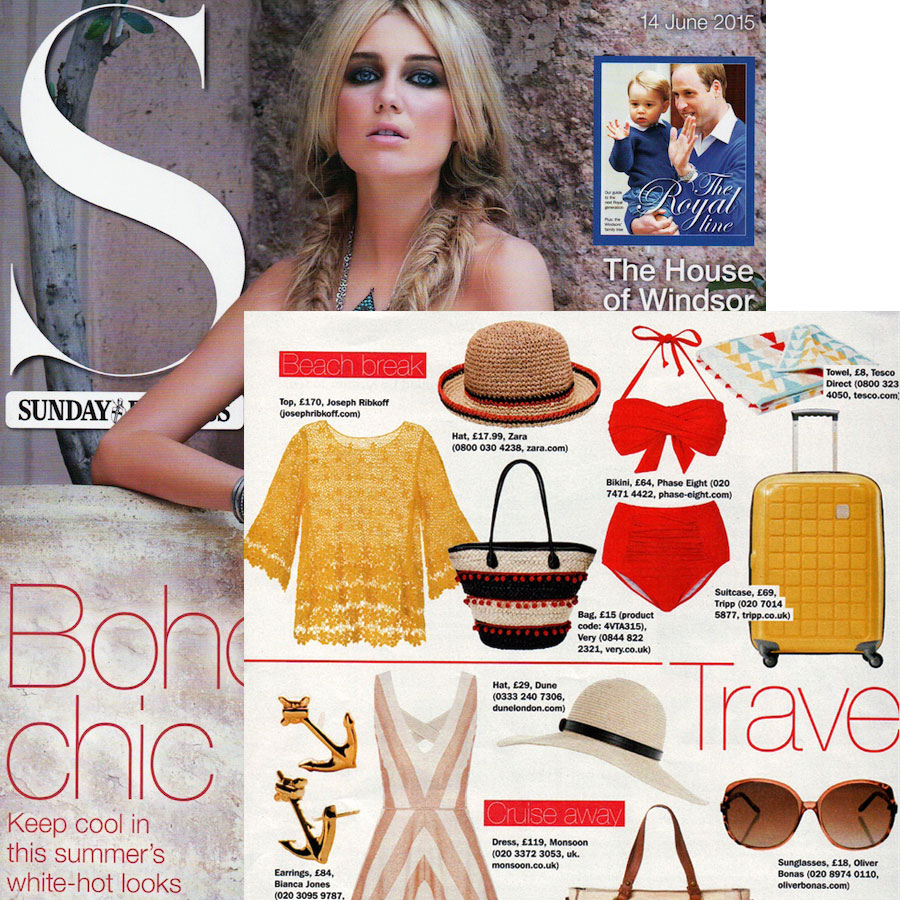 S Magazine features Gold Anchor Studs