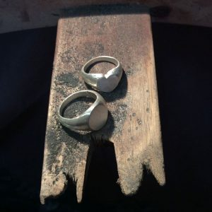 Signet Rings on the bench