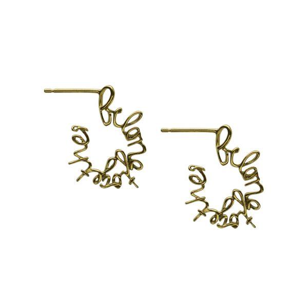 'Belong Together' Hoop Earrings in Gold