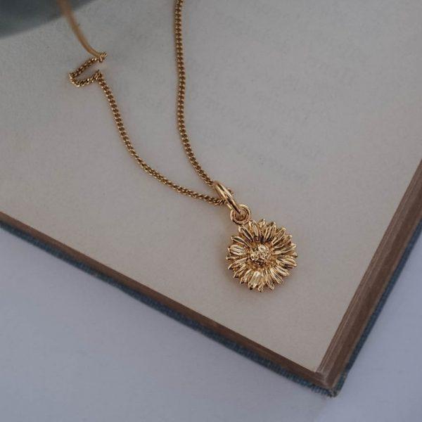 Daisy Necklace Gold Vermeil Bianca Jones Jewellery