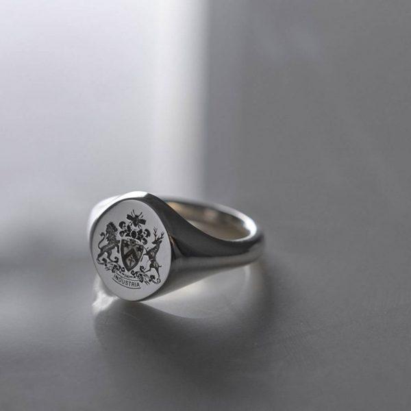 Fettes Signet Ring