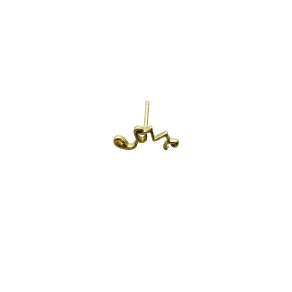 'Love' Stud Earring in Gold
