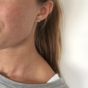 'Love' Stud Earring on Lauren