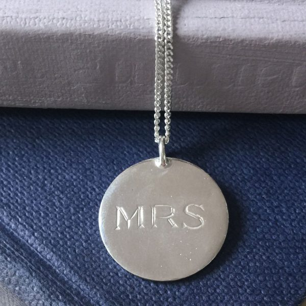 Sterling Silver MRS Necklace