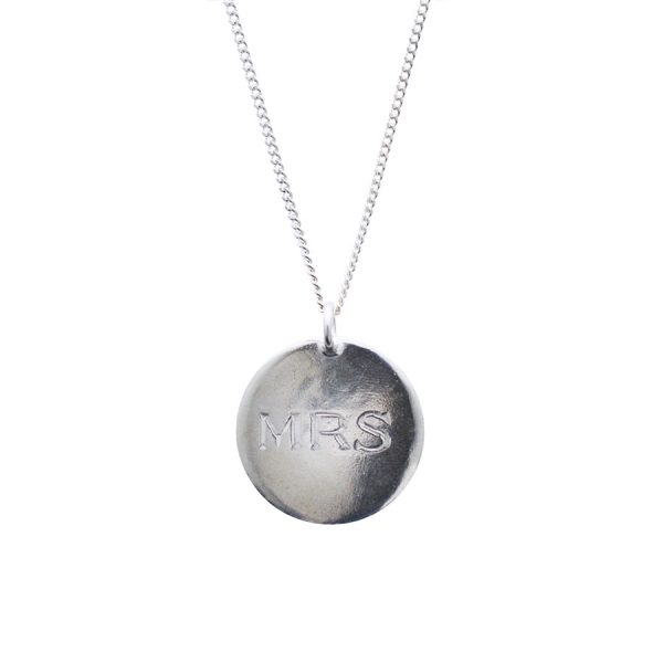 Mrs Necklace in Sterling Silver