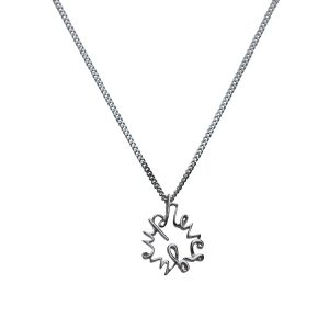 Never Give up Necklace in Sterling Silver