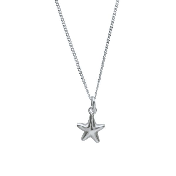 Starfish Necklace in Sterling Silver by Bianca Jones Jewellery