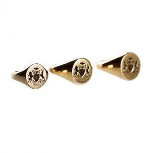 All three sizes of Fettesian Signet Rings