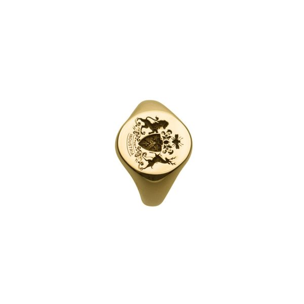 Largest Face Fettesian Signet Ring