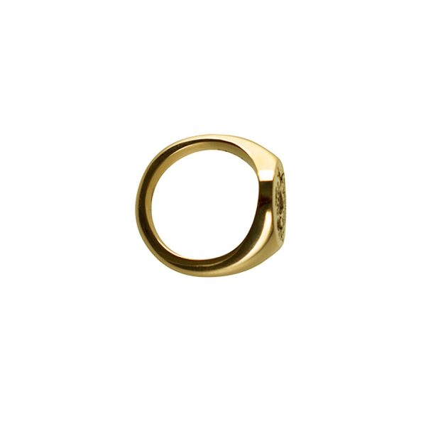 Smallest Face Fettesian Signet Ring