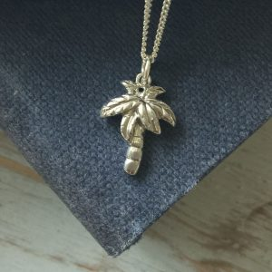Sterling Silver Palm Tree Necklace