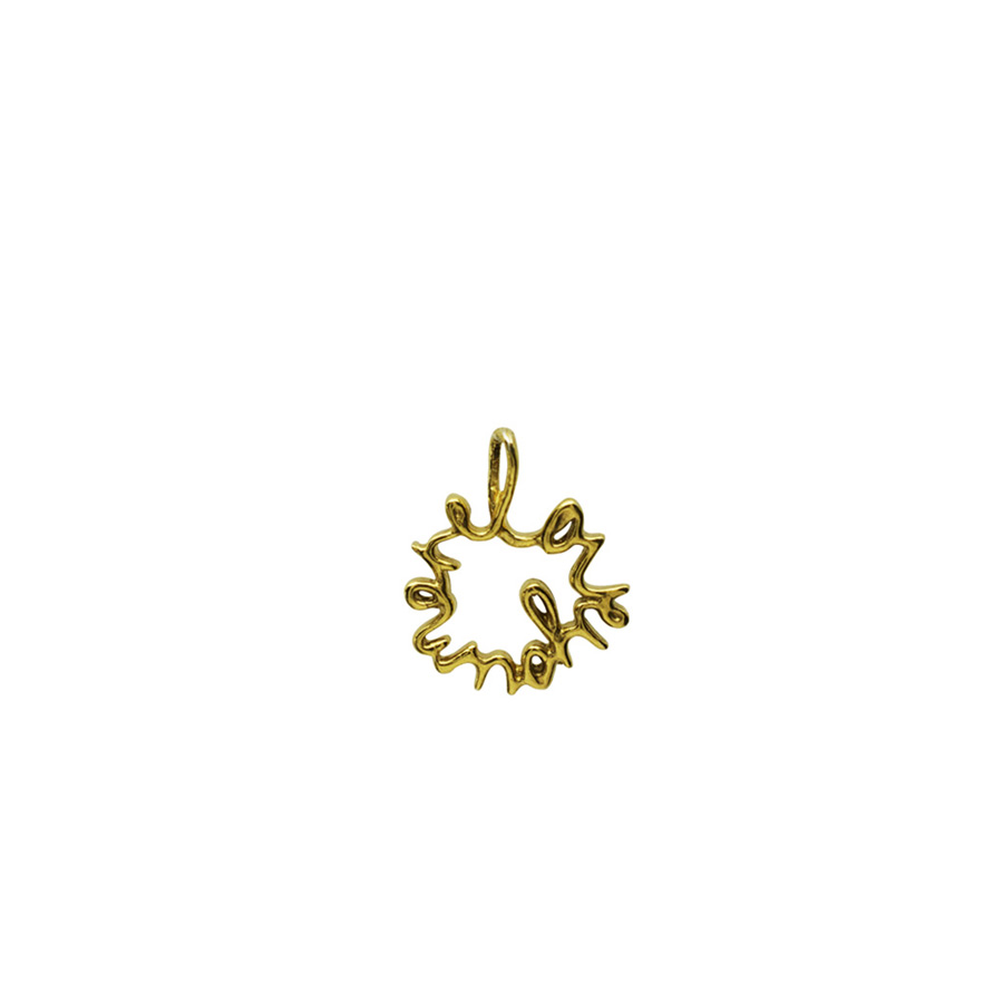 'Love You More' Charm in Gold