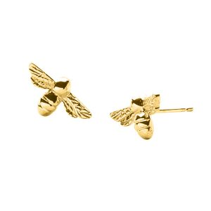 Bumblebee Stud Earrings In Gold Vermeil by Bianca Jones Jewellery