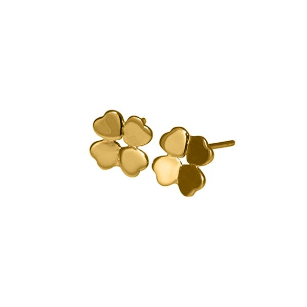 Clover Studs in Yellow Gold