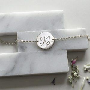 Initial Bracelet in Sterling Silver