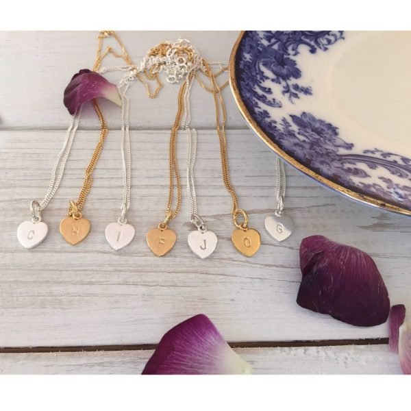 Letter Love Heart Necklace