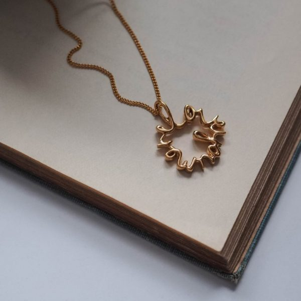 Love You More Medium Necklace in Gold Vermeil