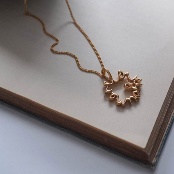 Love You More Necklace in Gold Vermeil by Bianca Jones Jewellery