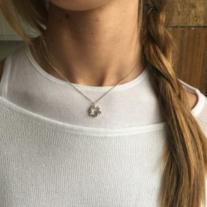Love You More Necklace in Sterling Silver