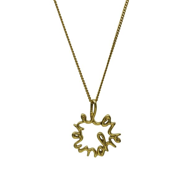 'Love You More' Necklace in Medium