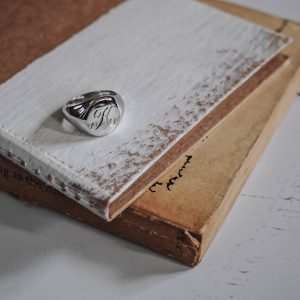 Signet Oval Initial Ring