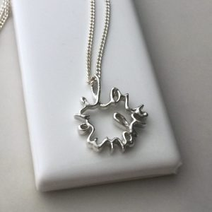 Love You More Medium Necklace in Sterling Silver