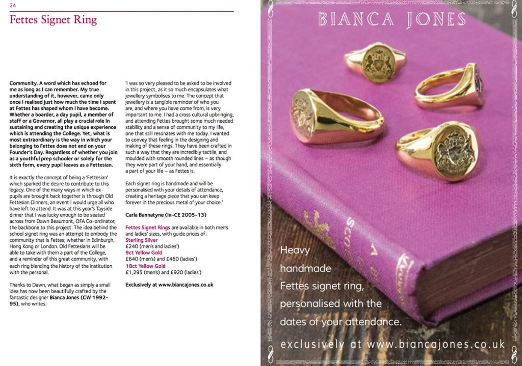 Fettes Signet Ring Article