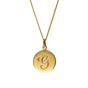 G initial in Yellow Gold