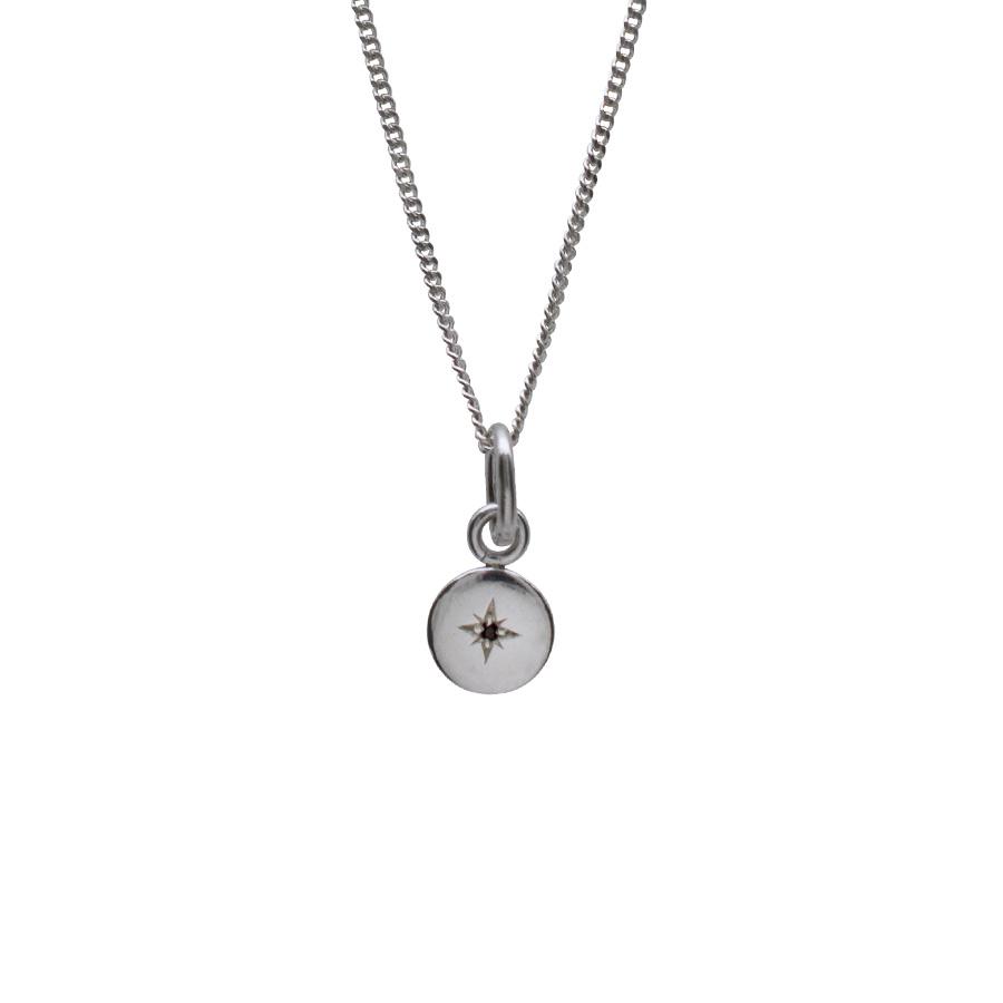 Garnet Birthstone Token Necklace